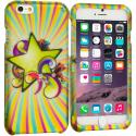 Apple iPhone 6 6S (4.7) SuperStar 2D Hard Rubberized Design Case Cover Angle 1