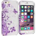 Apple iPhone 6 Plus 6S Plus (5.5) Purple Swirl 2D Hard Rubberized Design Case Cover Angle 1