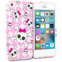 Apple iPhone 5/5S/SE Cute Skulls TPU Design Soft Rubber Case Cover Angle 1