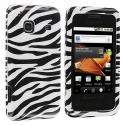 Samsung Galaxy Prevail M820 Black / White Zebra Design Crystal Hard Case Cover Angle 1