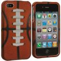 Apple iPhone 4 / 4S Football Hard Rubberized Design Case Cover Angle 2