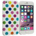Apple iPhone 6 6S (4.7) White / Colorful TPU Polka Dot Skin Case Cover Angle 1
