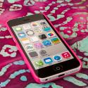 Apple iPhone 5C - Hot Pink MPERO SNAPZ - Glossy Case Cover Angle 2
