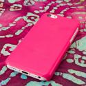 Apple iPhone 5C - Hot Pink MPERO SNAPZ - Glossy Case Cover Angle 3