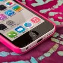 Apple iPhone 5C - Hot Pink MPERO SNAPZ - Glossy Case Cover Angle 5