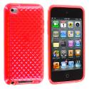 Apple iPod Touch 4th Generation Red Diamond TPU Rubber Skin Case Cover Angle 1