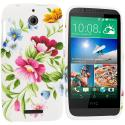 HTC Desire 510 Flower Painting TPU Design Soft Rubber Case Cover Angle 1
