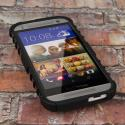 HTC One Mini 2 - Black MPERO IMPACT SR - Kickstand Case Cover Angle 2