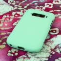 ZTE Imperial MPERO Full Protection Hard Rubberized Mint Case Cover Angle 3
