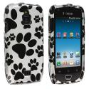 Samsung Exhibit 4G T759 Dog Paw Design Crystal Hard Case Cover Angle 1