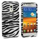 Samsung Epic Touch 4G D710 Sprint Galaxy S2 Black / White Zebra Design Crystal Hard Case Cover Angle 1