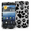 Pantech Discover Dog Paw Hard Rubberized Design Case Cover Angle 1