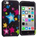 Apple iPhone 5C Colorful Shooting Star Hard Rubberized Design Case Cover Angle 1