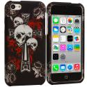 Apple iPhone 5C Skull on Cross Hard Rubberized Design Case Cover Angle 1
