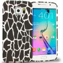Samsung Galaxy S6 Black Giraffe TPU Design Soft Rubber Case Cover Angle 1