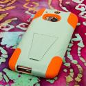 HTC One M8 - Coral-Mint MPERO IMPACT X - Kickstand Case Cover Angle 3