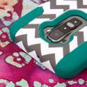 LG G Flex LS995 D950 D959 - Teal Chevron MPERO IMPACT X - Kickstand Case Angle 6
