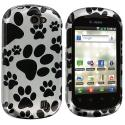 LG DoublePlay C729 / Flip II Dog Paw Design Crystal Hard Case Cover Angle 1