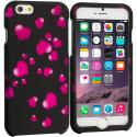 Apple iPhone 6 6S (4.7) Raining Hearts 2D Hard Rubberized Design Case Cover Angle 1