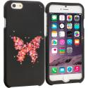 Apple iPhone 6 6S (4.7) Butterfly Hearts 2D Hard Rubberized Design Case Cover Angle 1