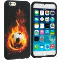 Apple iPhone 6 Plus 6S Plus (5.5) Flaming Soccer Ball TPU Design Soft Rubber Case Cover Angle 1