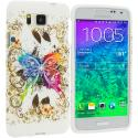 Samsung Galaxy Alpha G850 Colorful Butterfly TPU Design Soft Rubber Case Cover Angle 1