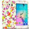 Samsung Galaxy S6 Colorful Flower TPU Design Soft Rubber Case Cover Angle 1