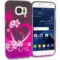 Samsung Galaxy S7 Edge Purple Love TPU Design Soft Rubber Case Cover Angle 1