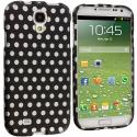 Samsung Galaxy S4 Polka Dot Hard Rubberized Design Case Cover Angle 1