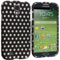 Samsung Galaxy S4 Polka Dot Hard Rubberized Design Case Cover Angle 2