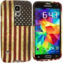 Samsung Galaxy S5 USA Flag TPU Design Soft Case Cover Angle 2