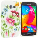 Samsung Galaxy Avant G386 Flower Painting TPU Design Soft Rubber Case Cover Angle 1