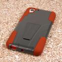 HTC Desire EYE - Sandstone / Gray MPERO IMPACT X - Kickstand Case Cover Angle 3