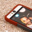 HTC Desire EYE - Sandstone / Gray MPERO IMPACT X - Kickstand Case Cover Angle 5