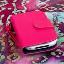 BlackBerry Curve 9310 / 9315 - Hot Pink MPERO FLEX FLIP Wallet Case Cover Angle 2