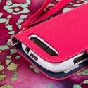 BlackBerry Curve 9310 / 9315 - Hot Pink MPERO FLEX FLIP Wallet Case Cover Angle 7