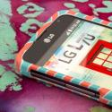 LG Optimus L70 - Mint Chevron MPERO SNAPZ - Case Cover Angle 4