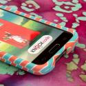 LG Optimus L70 - Mint Chevron MPERO SNAPZ - Case Cover Angle 5