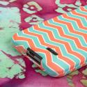 LG Optimus L70 - Mint Chevron MPERO SNAPZ - Case Cover Angle 6