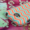 LG Optimus L70 - Mint Chevron MPERO SNAPZ - Case Cover Angle 7