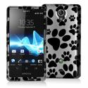 Sony Xperia TL Dog Paw Design Crystal Hard Case Cover Angle 1