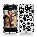 Sony Event C5133 Dog Paw Hard Rubberized Design Case Cover Angle 1