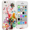 Apple iPhone 5C Autumn Flower TPU Design Soft Case Cover Angle 1