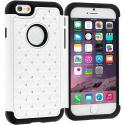 Apple iPhone 6 Plus 6S Plus (5.5) White Hard Rubberized Diamond Case Cover Angle 1