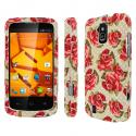 ZTE Force - Vintage Red Roses MPERO SNAPZ - Rubberized Case Cover Angle 1