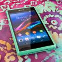 Sony Xperia Z1 C6906 - Mint Green MPERO FLEX S - Protective Case Cover Angle 2