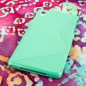 Sony Xperia Z1 C6906 - Mint Green MPERO FLEX S - Protective Case Cover Angle 3