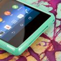 Sony Xperia Z1 C6906 - Mint Green MPERO FLEX S - Protective Case Cover Angle 5
