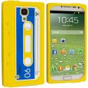 Samsung Galaxy S4 Yellow Cassette Silicone Soft Skin Case Cover Angle 1