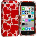 Apple iPhone 5C Hearts w Different Shapes Hard Rubberized Design Case Cover Angle 1